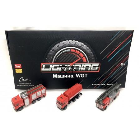 Пожарные Машинки Металл 12 шт. YU7296B
