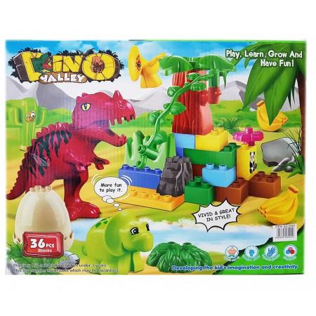 Конструктор Блоками Динозавры 36 дет. 5067