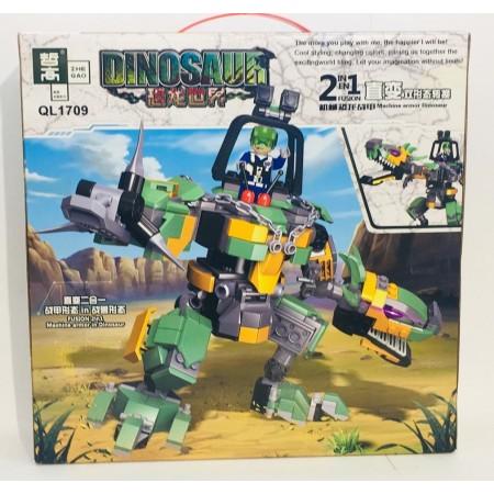 Конструктор Динозавр 2в1 362 дет. QL1709