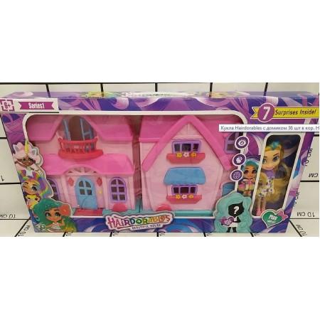 Кукла Hairdorables с домиком H-002