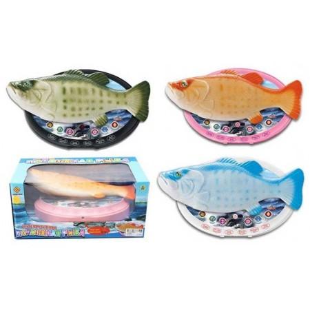Рыба Интерактивная (свет/звук/движение) JD-6688
