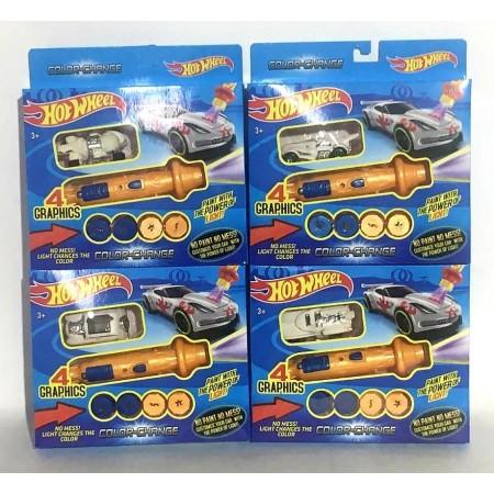 Машинка Хот Вилс Набор с Лазером (меняет цвет) PM-H12