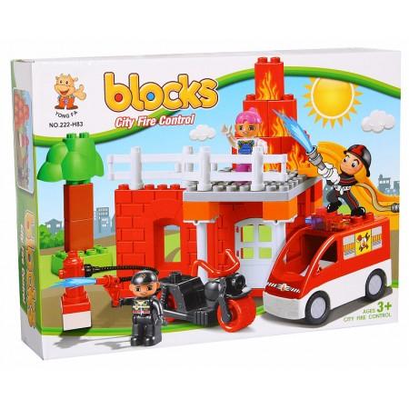 Конструктор Блоками Пожарная Станция  222-H75
