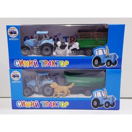 Синий Трактор с Прицепом и Животным 1001