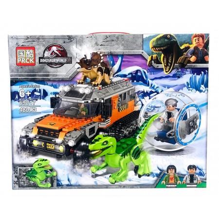 Конструктор Динозавры 480 дет. 69017