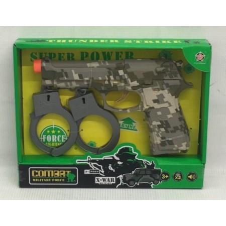 Пистолет с Наручниками Набор HY9002-6