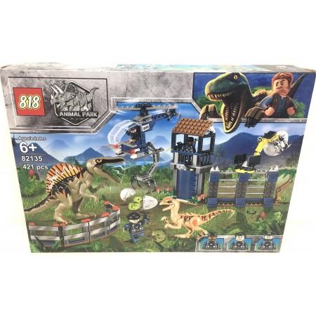 Конструктор Динозавры 421 дет. 82135
