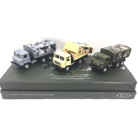 Машина Военная Металл 6 шт. 2216-10A