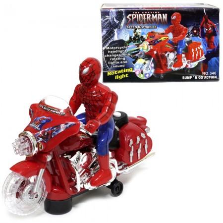 Человек-Паук на Мотоцикле (свет/звук) 346