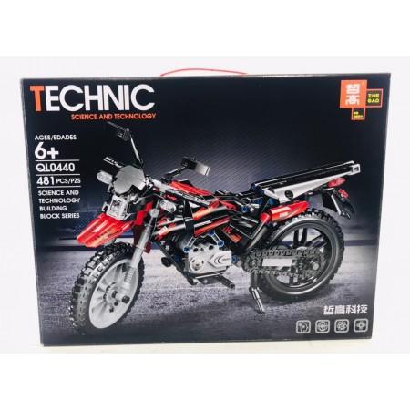 Конструктор Мотоцикл 481 дет. QL0440