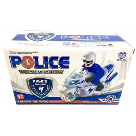 Мотоцикл Полиция (свет/звук) 009-12