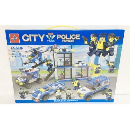 Конструктор Город Полиция 505 дет. LXA336