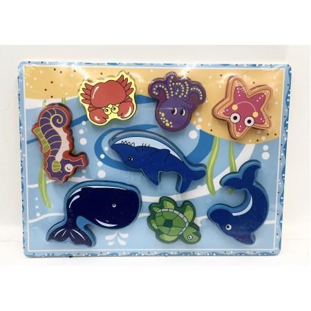 Пазл-Вкладыш Морские Животные 92-92