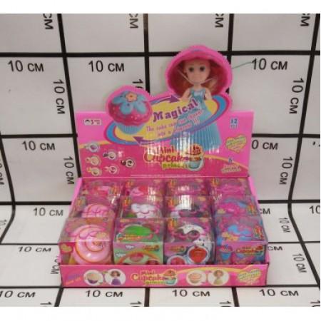 Кукла в кексе 12 шт в блоке 1124-12