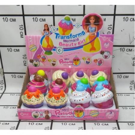 Кукла в кексе 12 шт в блоке D6608-12A