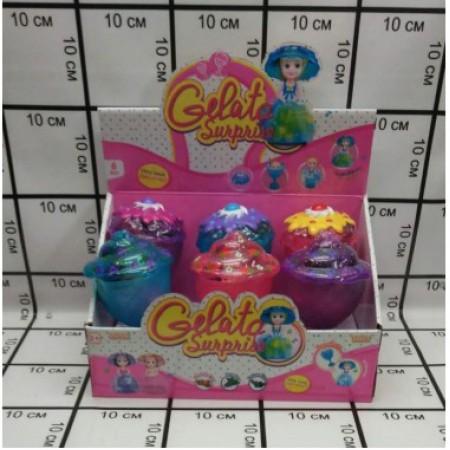 Кукла в кексе 6 шт. в блоке (муз,свет) LM2389