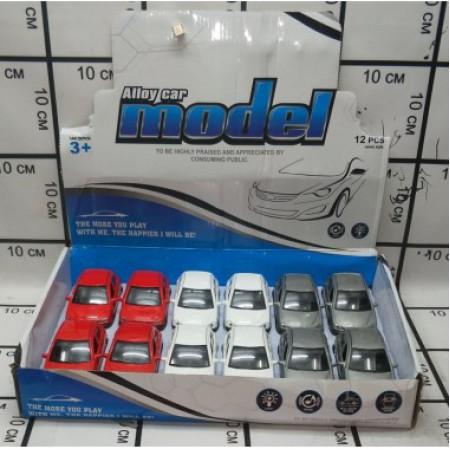 Машинки Металл ( свет/звук) 12 шт. Y998-1