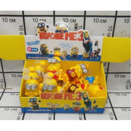 Заводная игрушка Миньон 12 шт в блоке FY-13A
