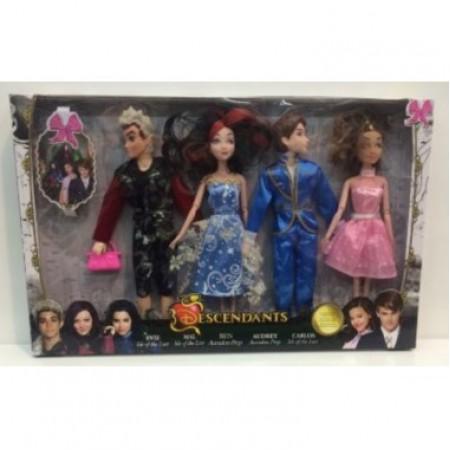 Набор из 4х кукол Наследники