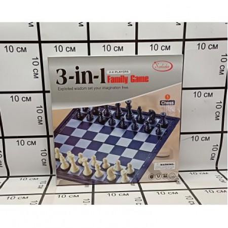Набор шахматы 3 в 1 3118