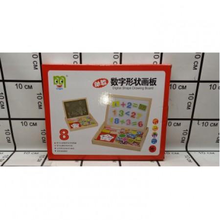 Доска для рисования+ набор магнитных игрушек 2407-2