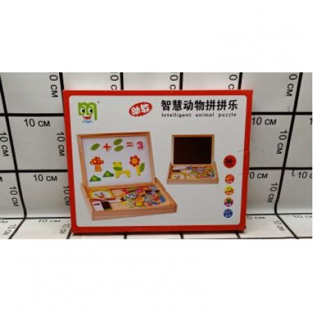 Доска для рисования+ набор магнитных игрушек 2407-4