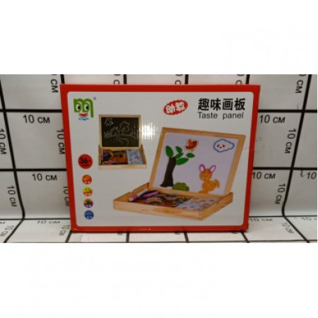 Доска для рисования+ набор магнитных игрушек 2407-5