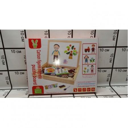Доска для рисования+ набор магнитных игрушек 93-47