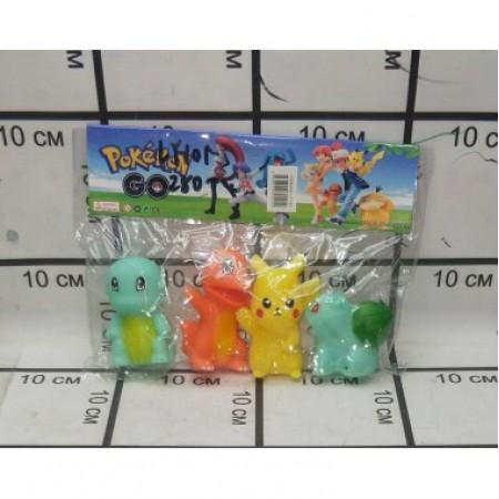 Покемоны резиновые(пакет) LY-101