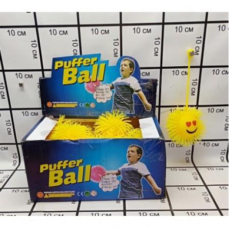 Мячик на резинке 24 шт. в блоке 9007