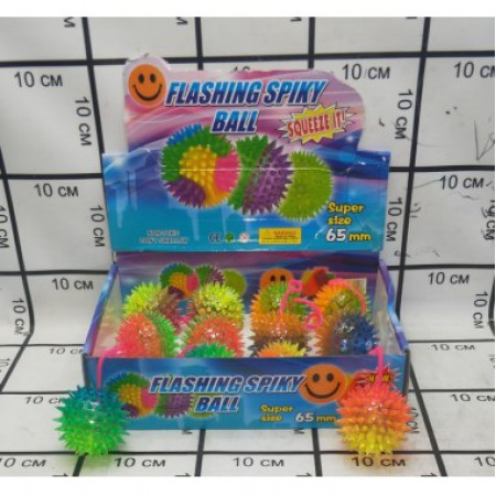 Резиновые светящиеся мячики 12 шт 8218