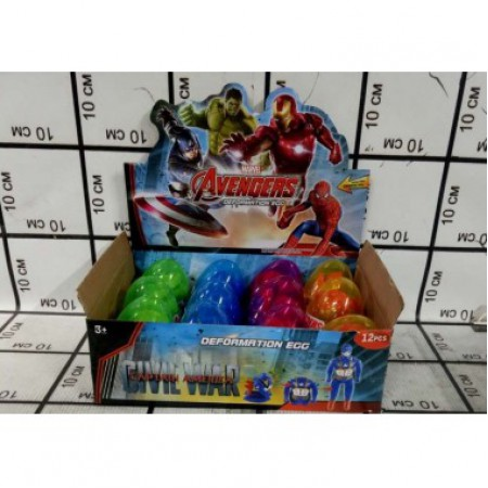Супергерои в яйце 12 шт в блоке 6004